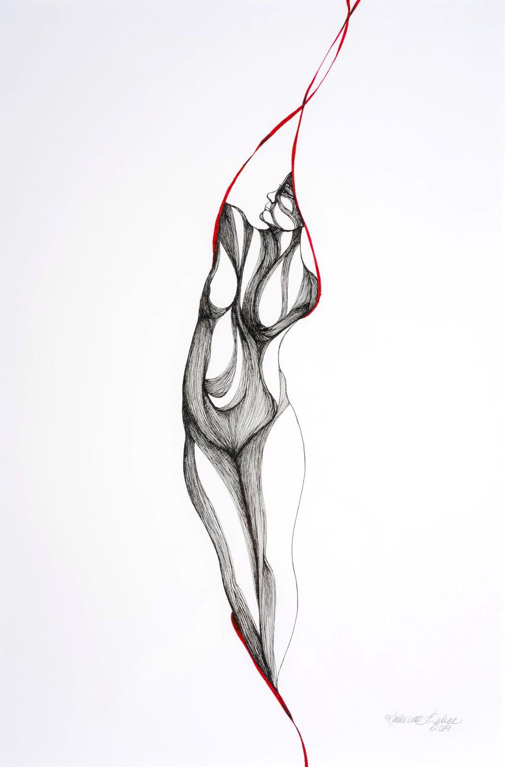 Pose Three, Study II by Katherine Filice