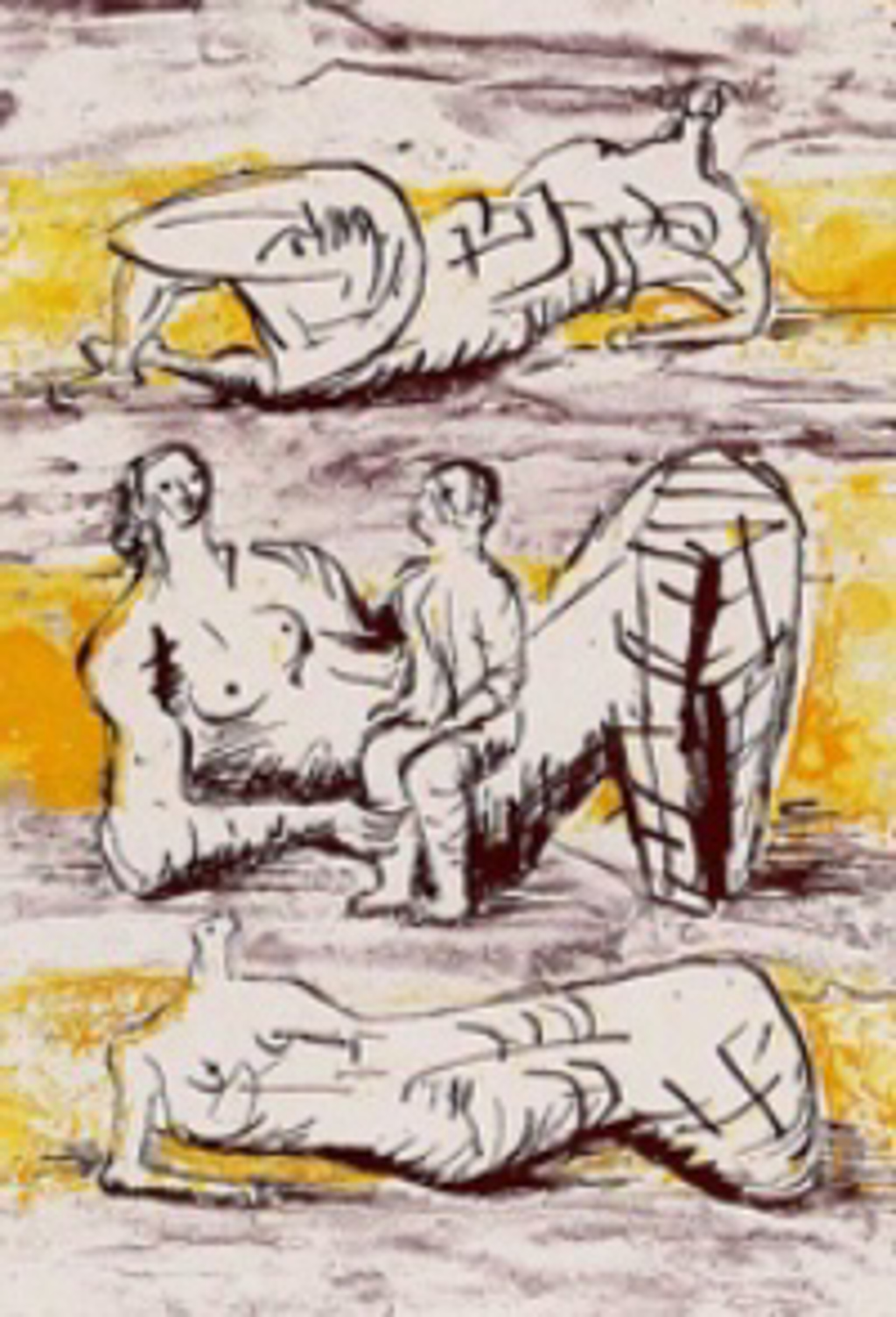 Reclining Figures & Reclining Mother & Child,  by Henry Moore