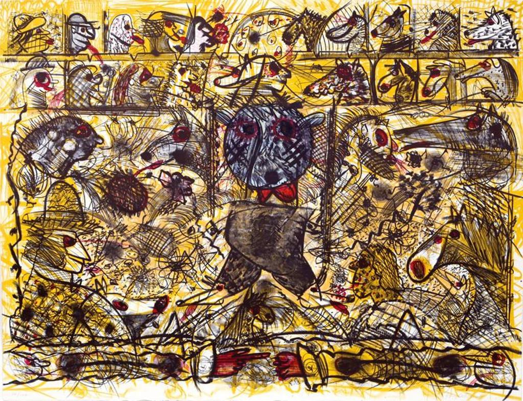 Untitled (Walking) by Roy De Forest (American, 1930-2007)