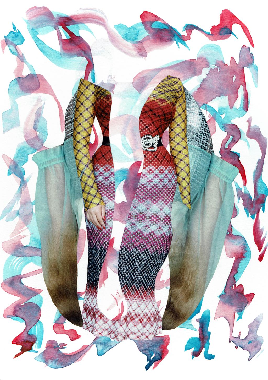 Dark Pink & Aqua by Laura Dunkin-Hubby