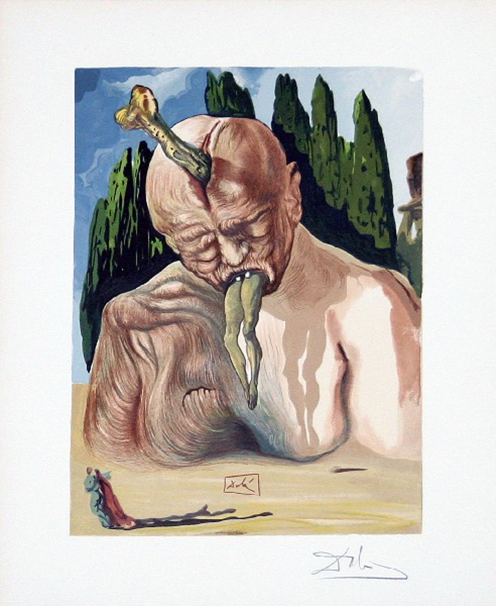 Inferno Canto 27: The Devil Logician from The Divine Comedy by Salvador Dali (1904 - 1989)