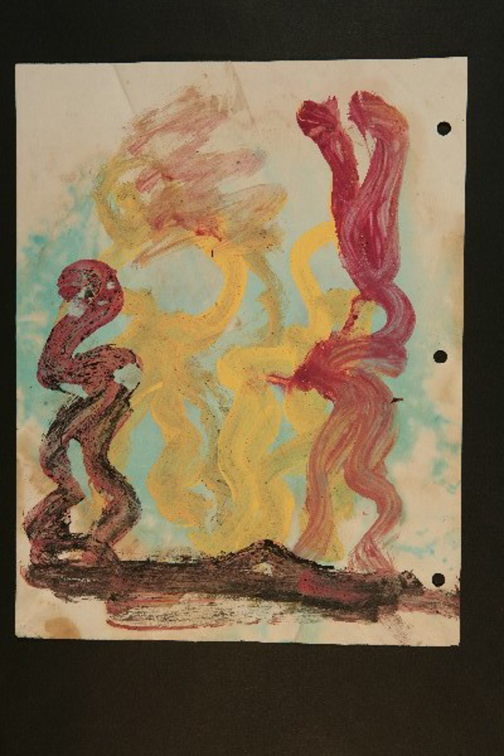 Drawing from the 1990's #181 by Purvis Young (1943 - 2010)