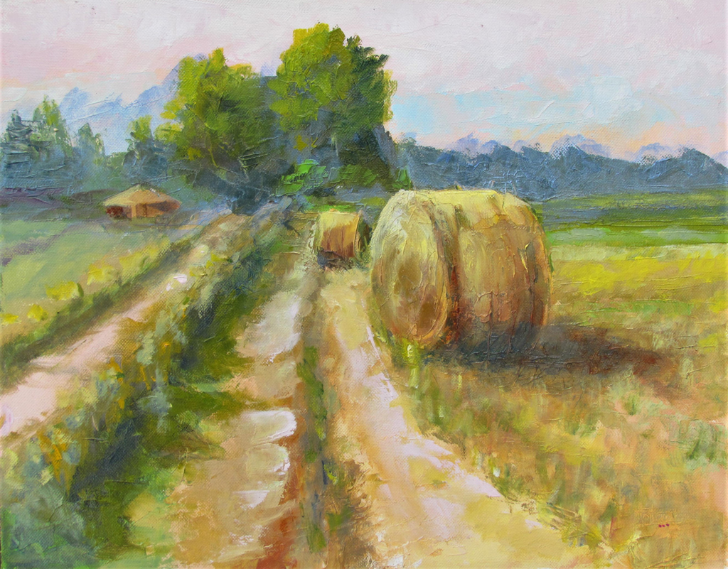 Local Hay Bales by Patti Mollema