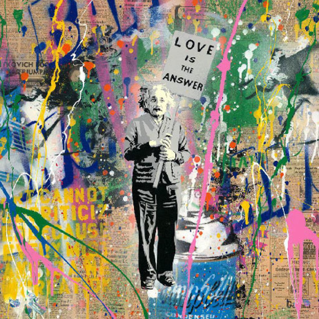 Einstein by Mr. Brainwash (b. 1966)