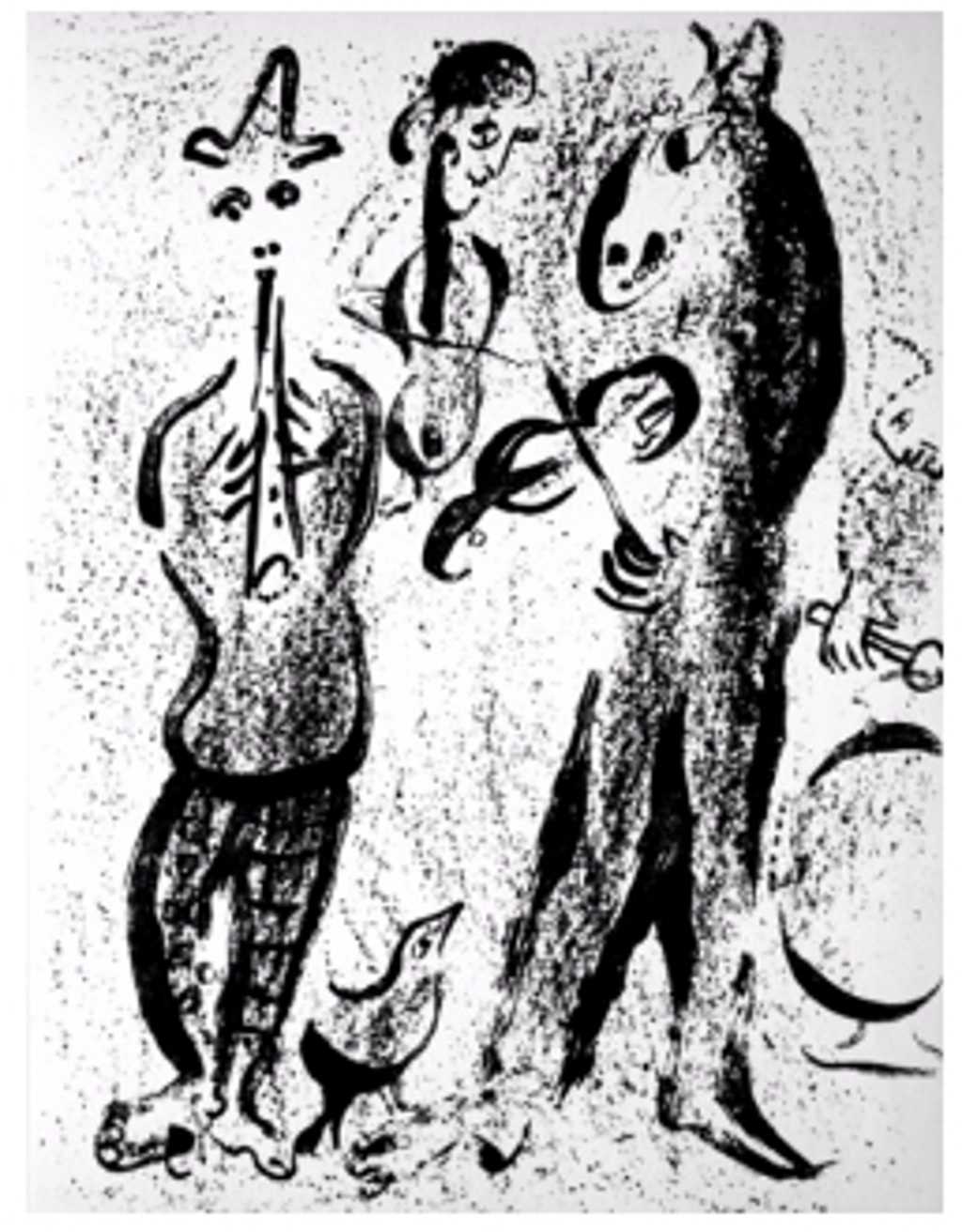 Itinerant Players from Chagall Lithographs I by Marc Chagall (1887 - 1985)