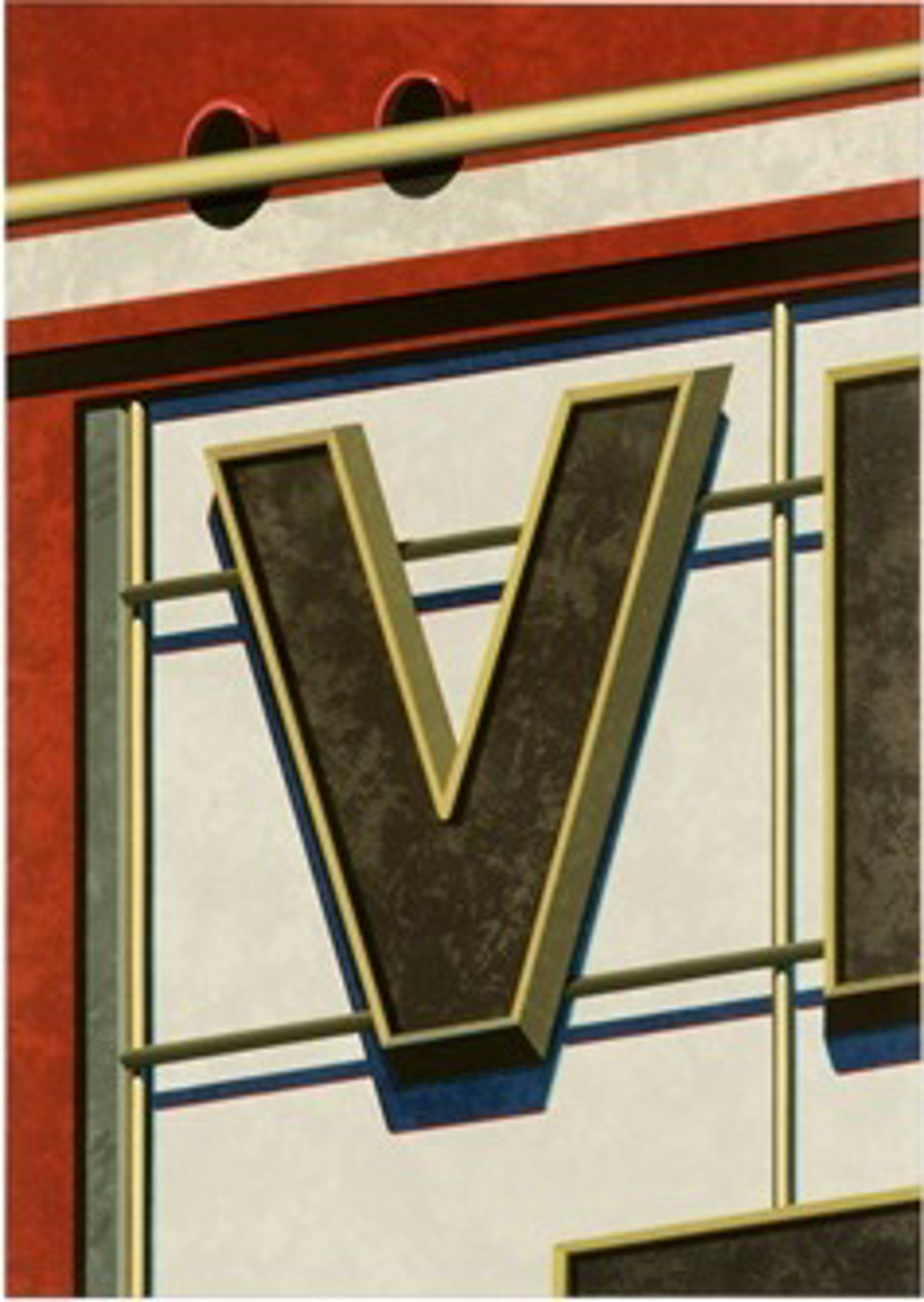 An American Alphabet: V by Robert Cottingham