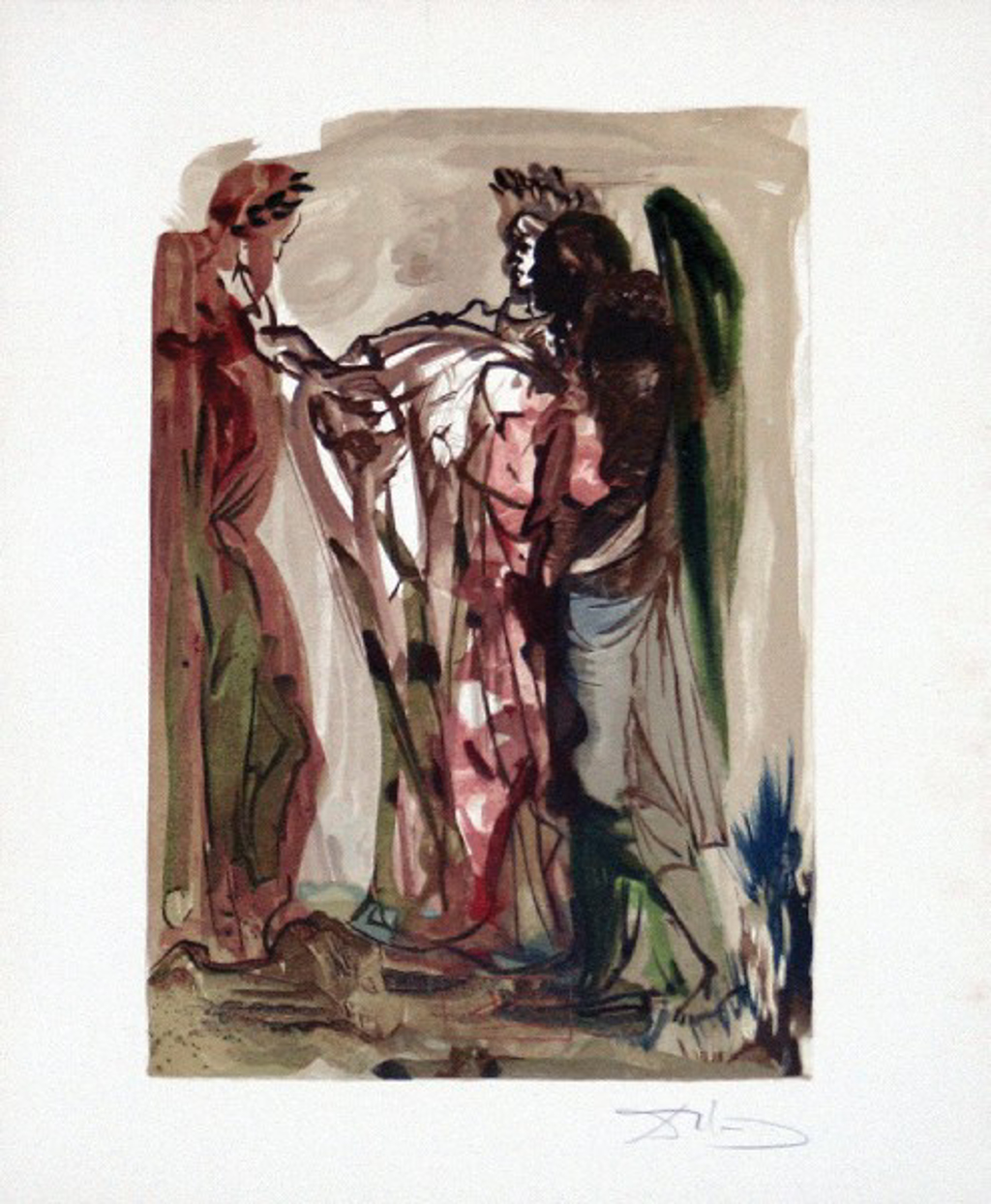 Purgatory Canto 11: The Haughty from The Divine Comedy by Salvador Dali (1904 - 1989)