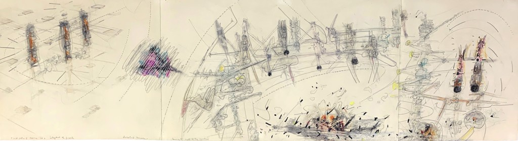 It's Not A Question of Superman by Roberto Matta (1911 - 2002)