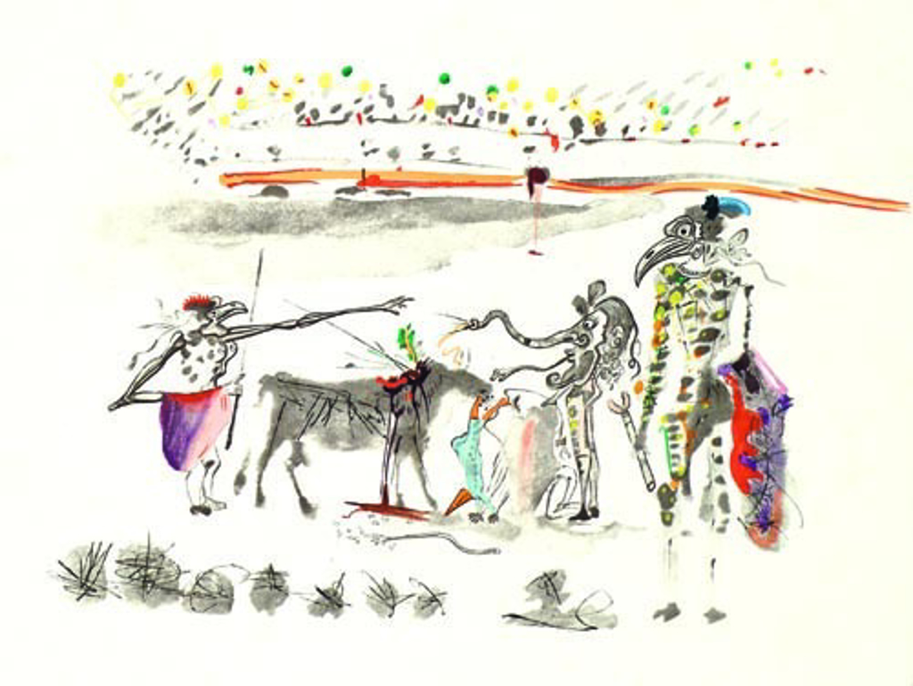 The Parrots from the Tauromachie Suite by Salvador Dali (1904 - 1989)