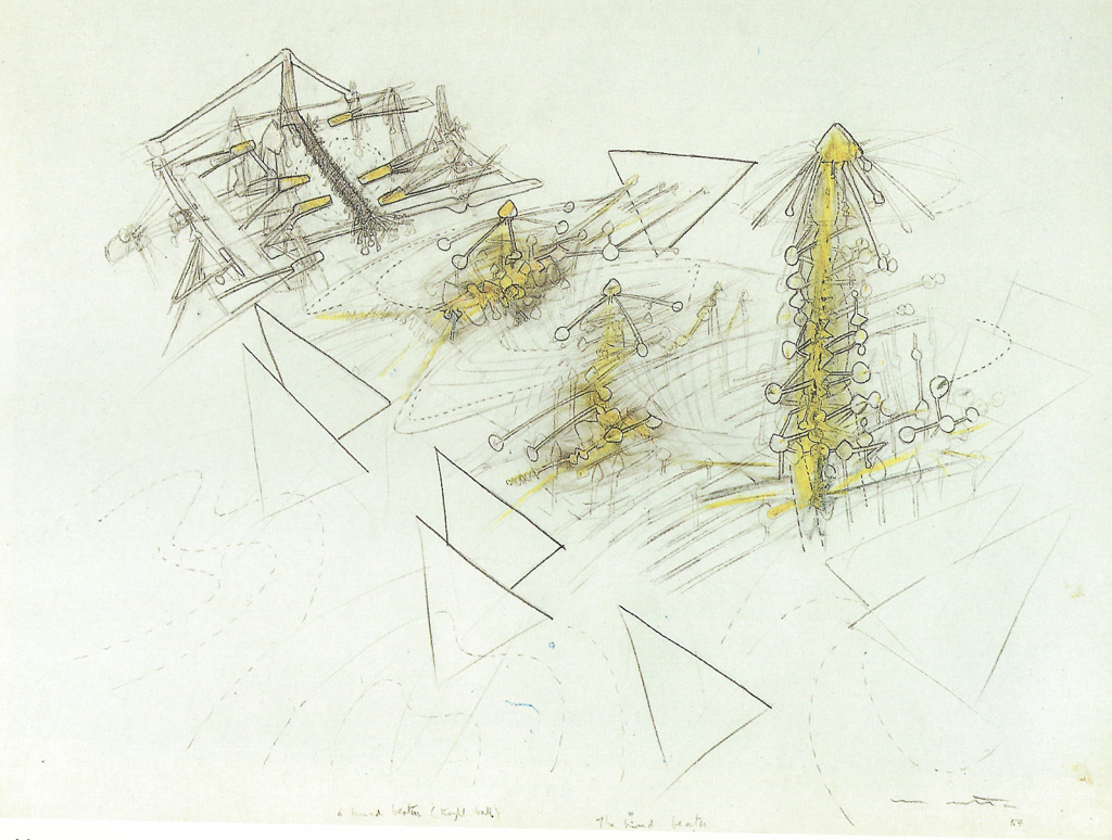 Mind Beaters by Roberto Matta (1911 - 2002)