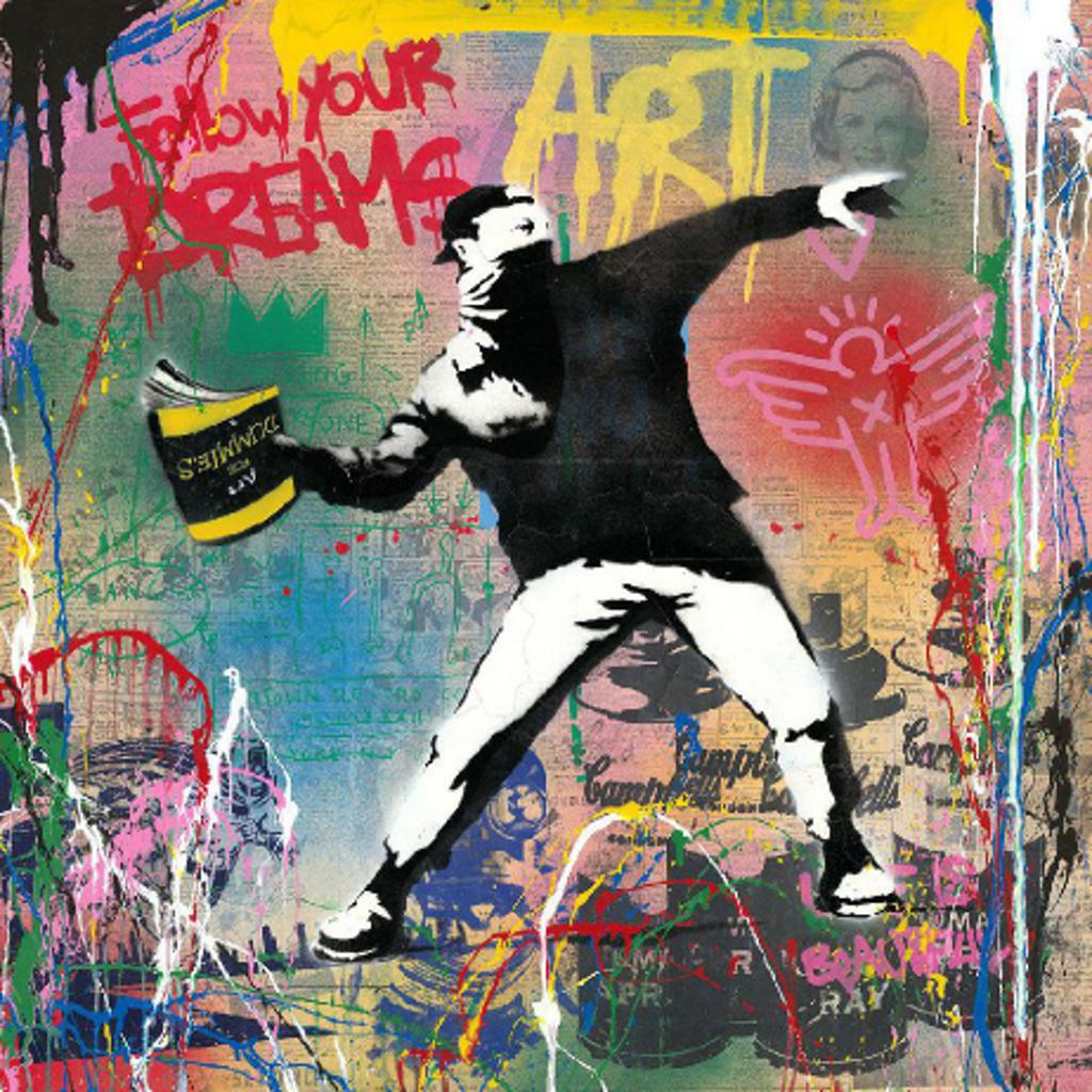 Banksy Thrower by Mr. Brainwash (b. 1966)