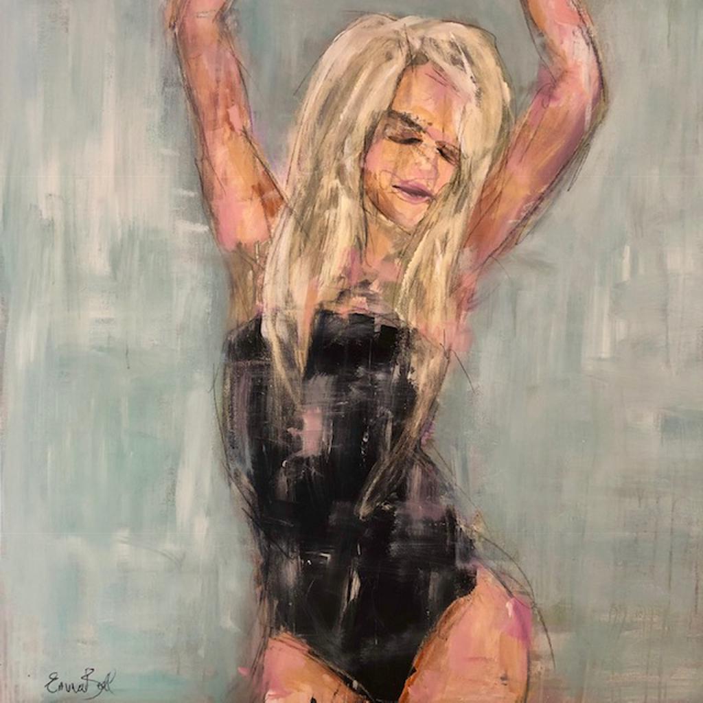 Blonde in a Black Bikini by Emma Bell