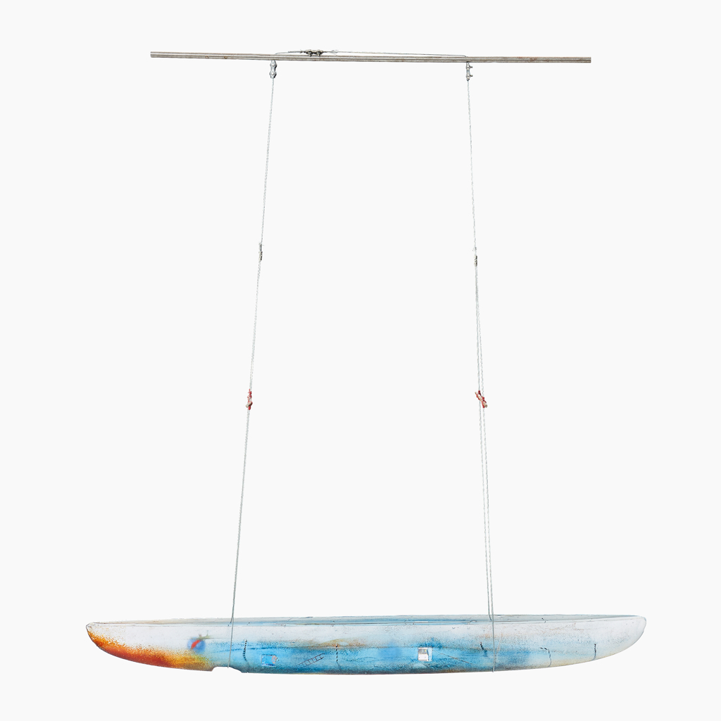 Suspended Glass Boat by Bertil Vallien