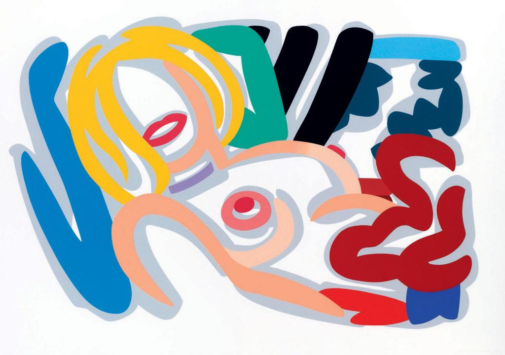 Big Blonde with Choker by Tom Wesselmann (1931 - 2004)