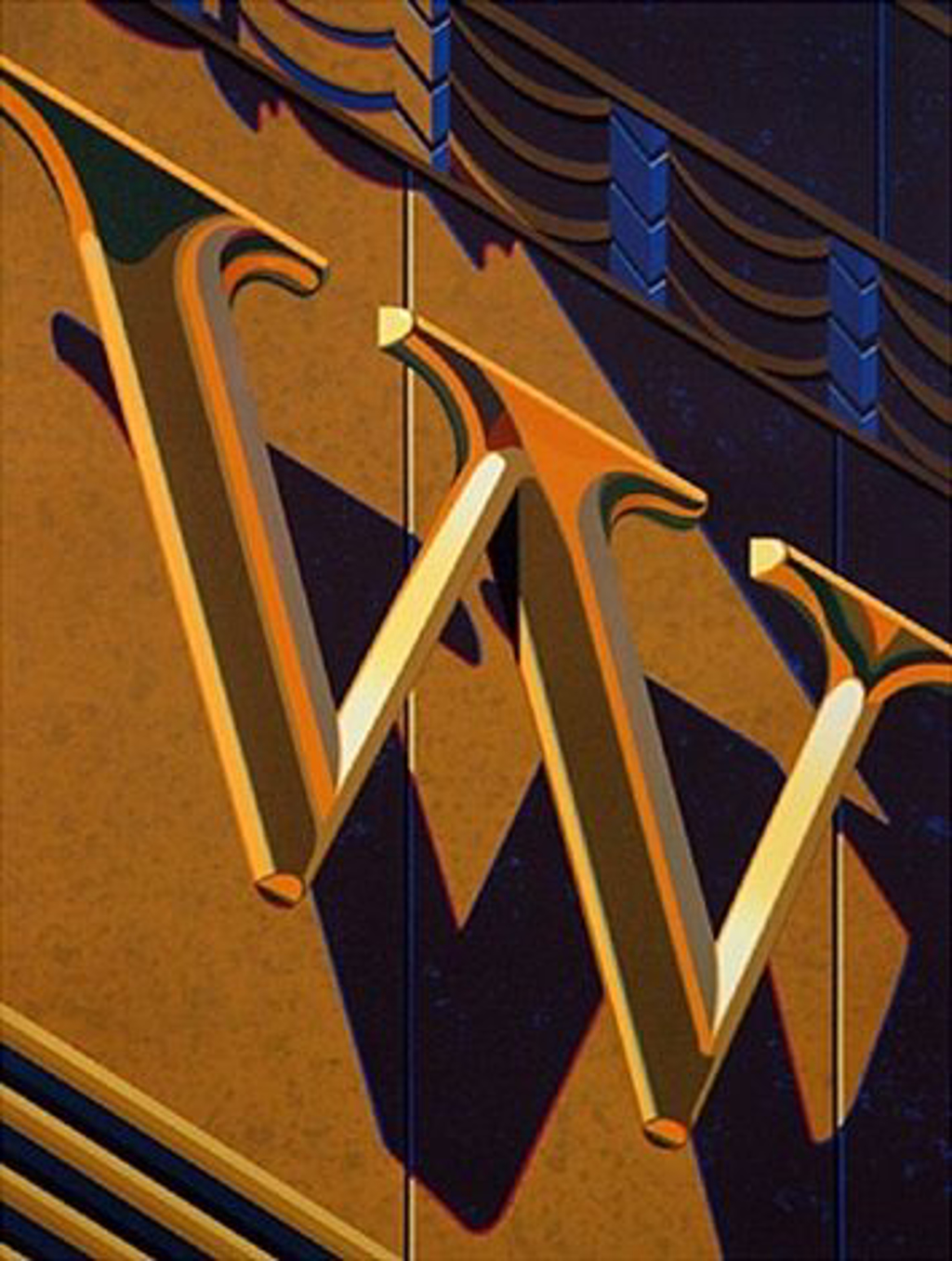 An American Alphabet: W by Robert Cottingham