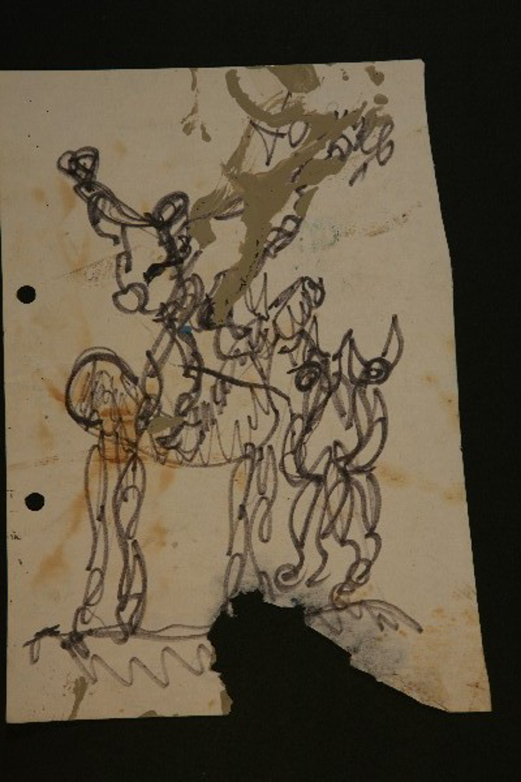 """Drawing from the 2000""""s #4 by Purvis Young (1943 - 2010)"""