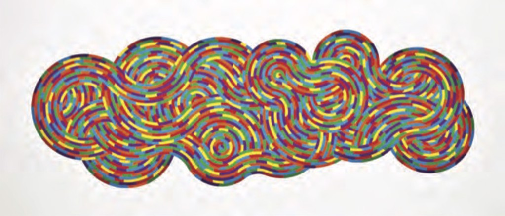 Whirls and Twirls by Sol LeWitt
