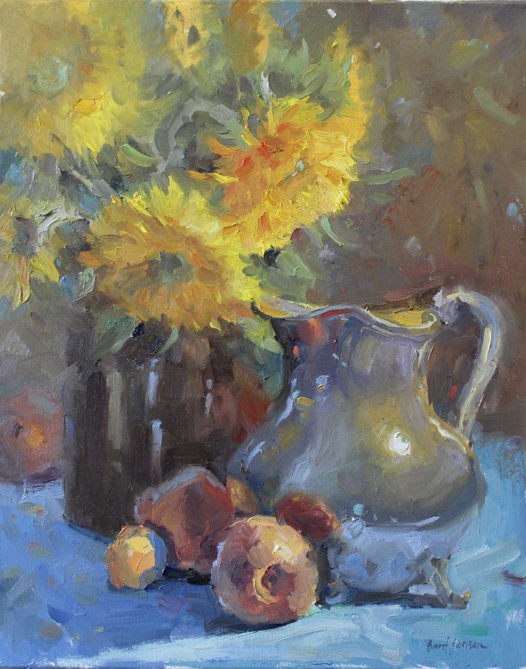 Sunflowers and Peaches by Brent Jensen