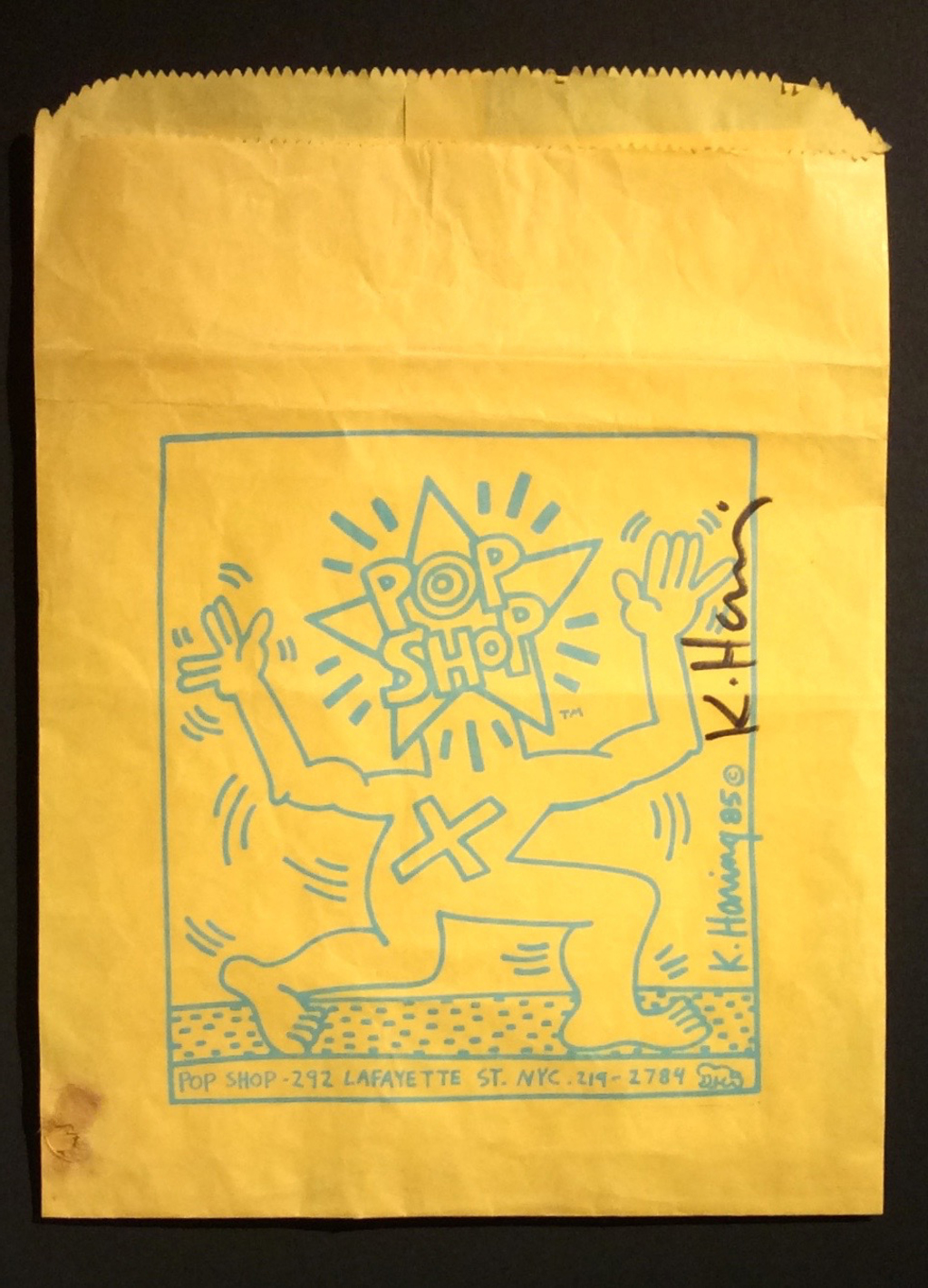Pop Shop Bag by Keith Haring (1958 - 1990)