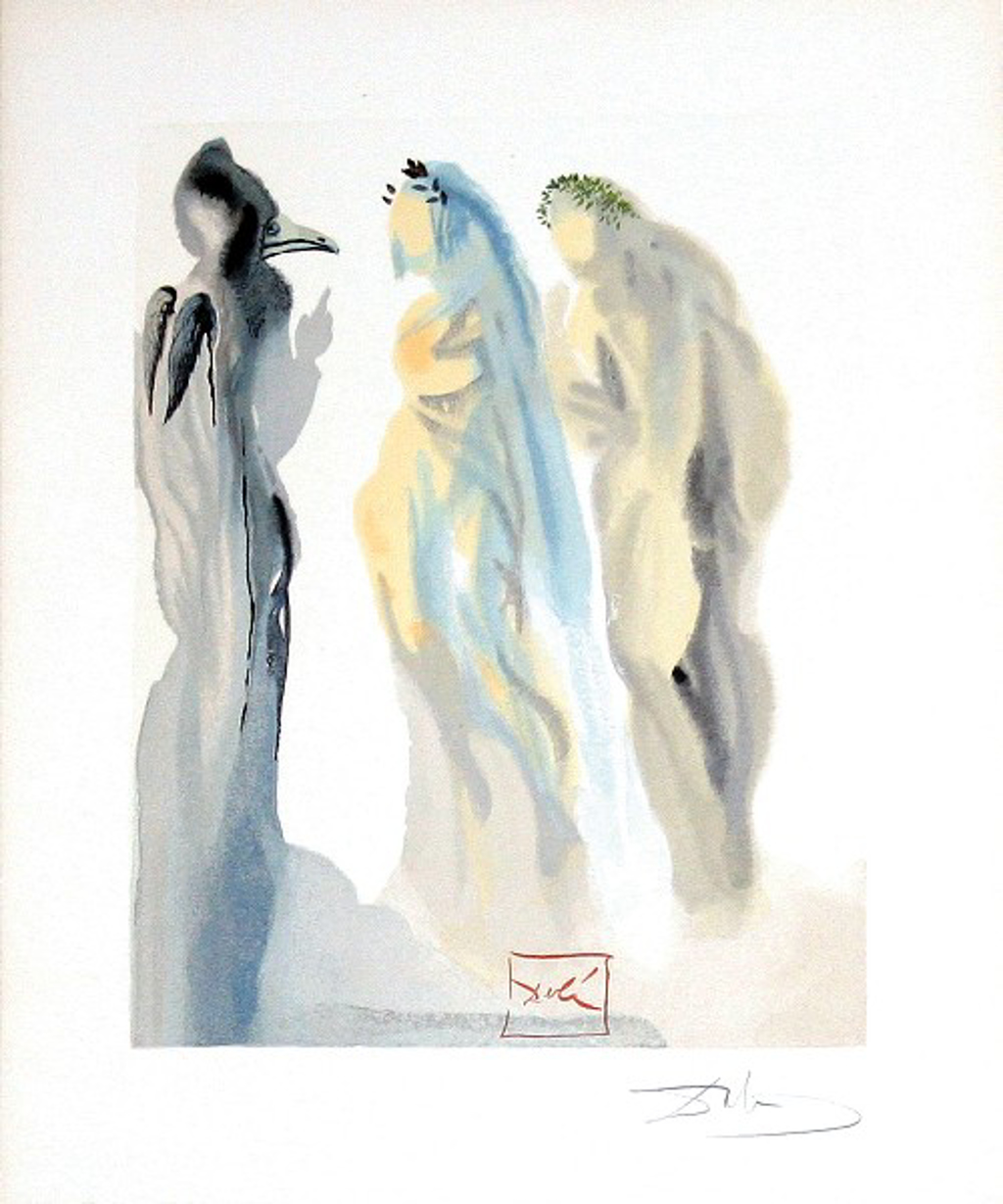 Paradise Canto 9: The Sphere of Venus from the Divine Comedy by Salvador Dali (1904 - 1989)