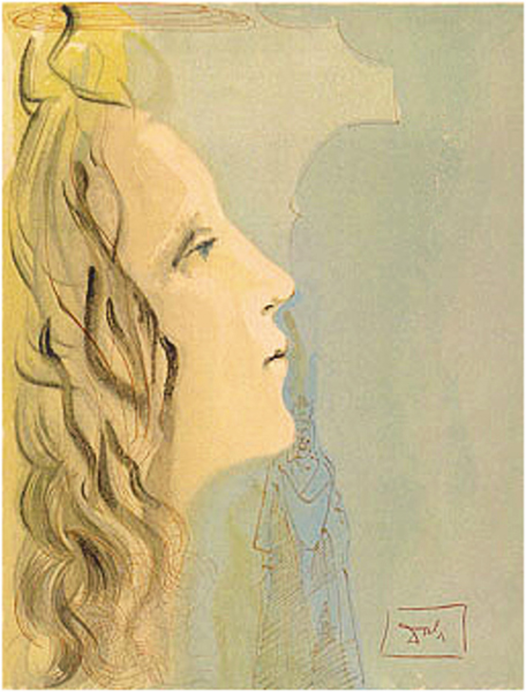 Paradise Canto 8: The Greatest Beauty of Beatrice from Divine Comedy by Salvador Dali (1904 - 1989)