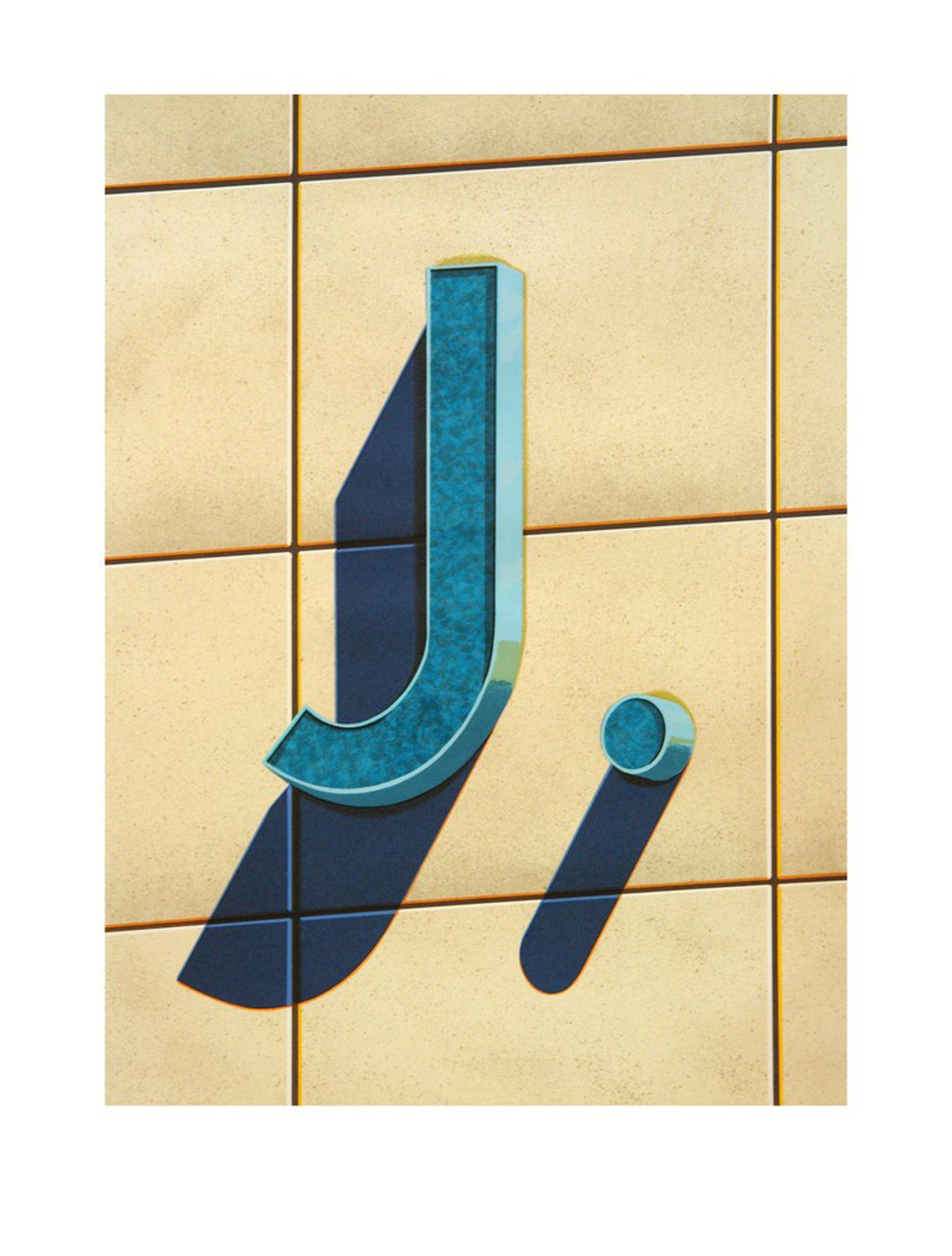 An American Alphabet: J by Robert Cottingham