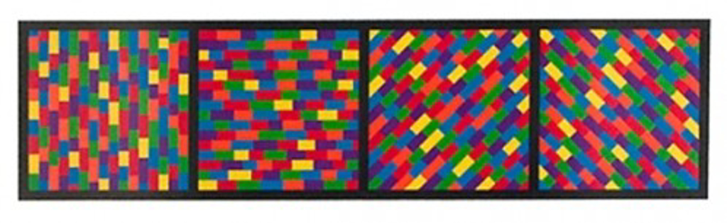 Broken Color Bands in Four Directions by Sol LeWitt