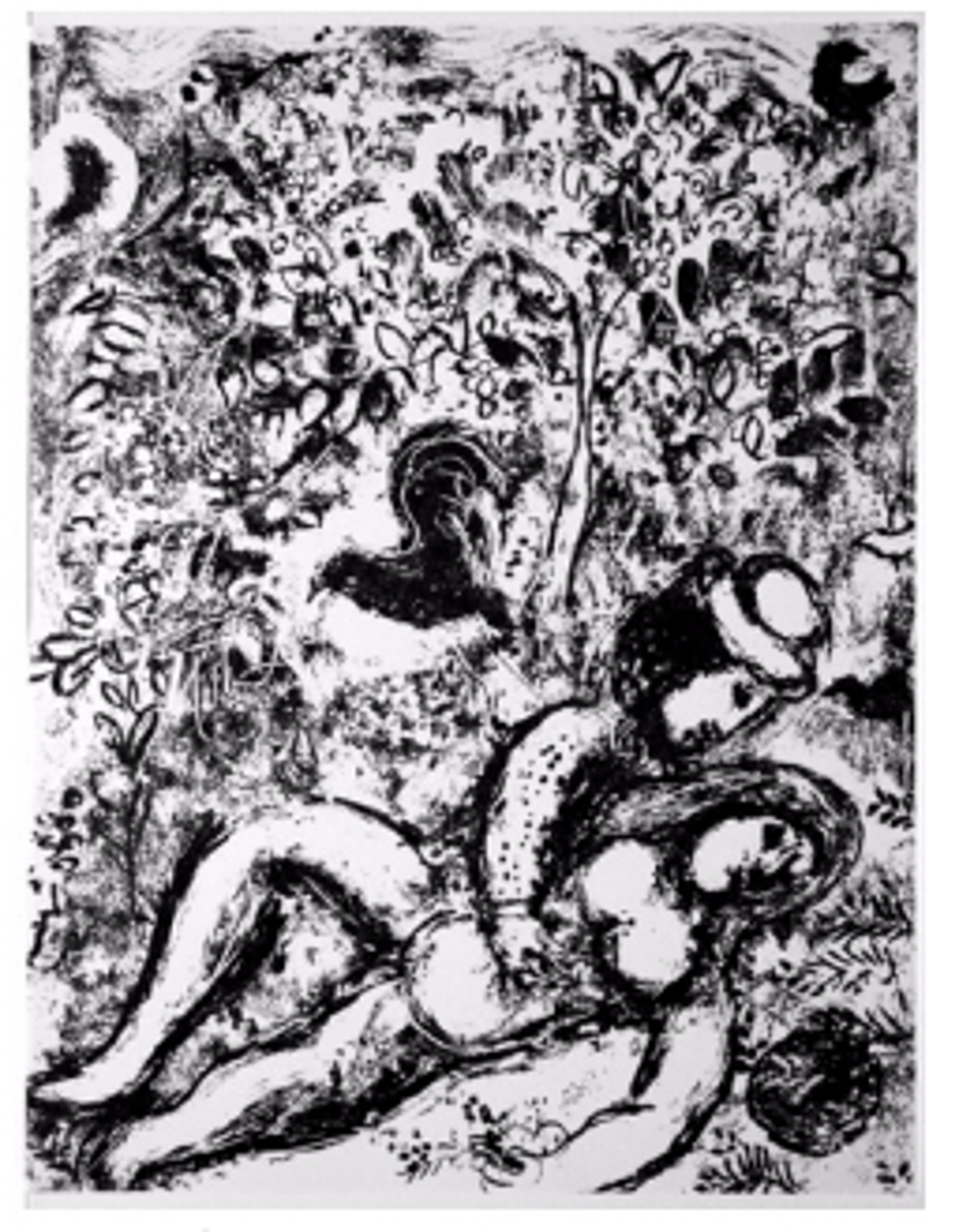 Couple Beside Tree from Chagall Lithographs I by Marc Chagall (1887 - 1985)