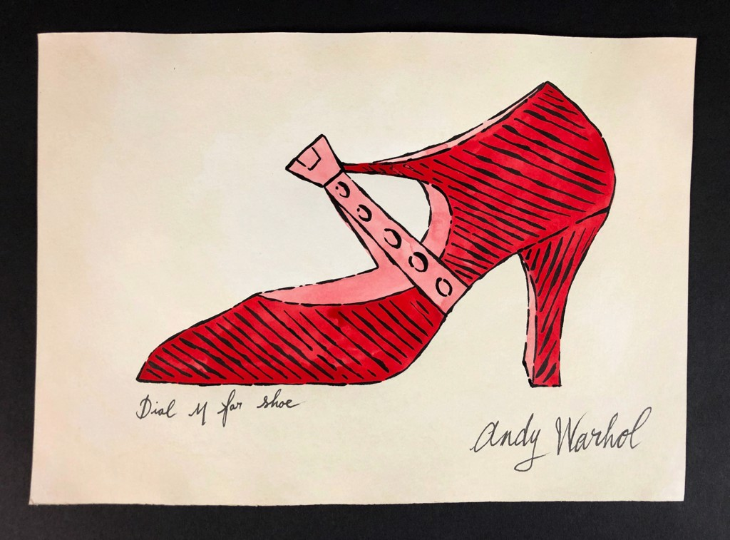 Dial M for shoe by Andy Warhol (1928 - 1987)