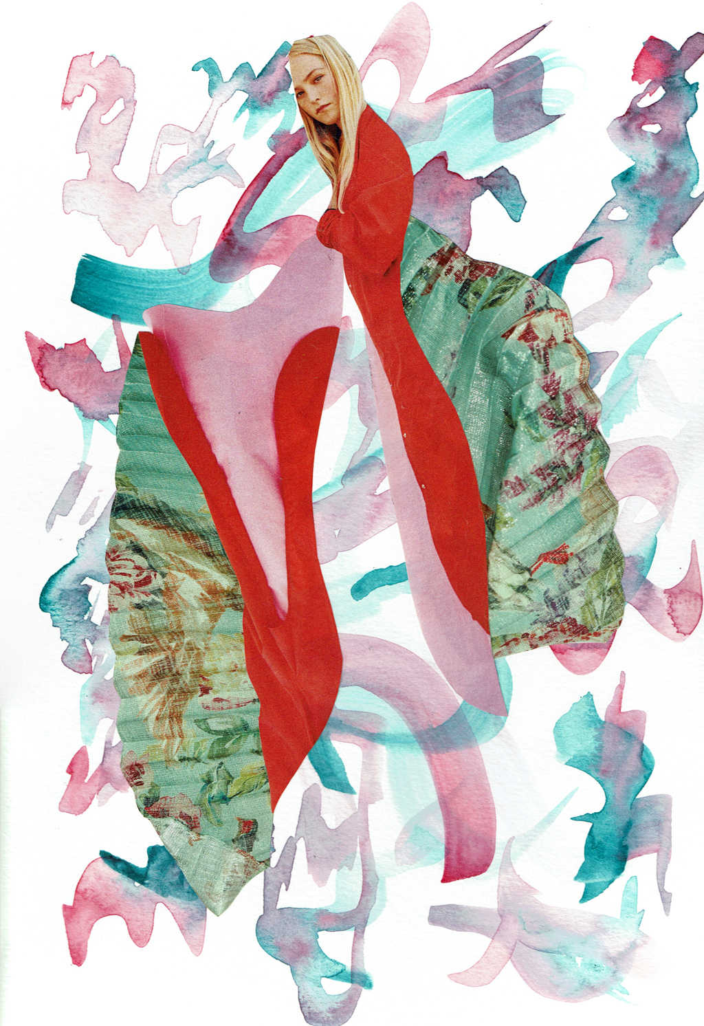 Dark Pink & Teal by Laura Dunkin-Hubby