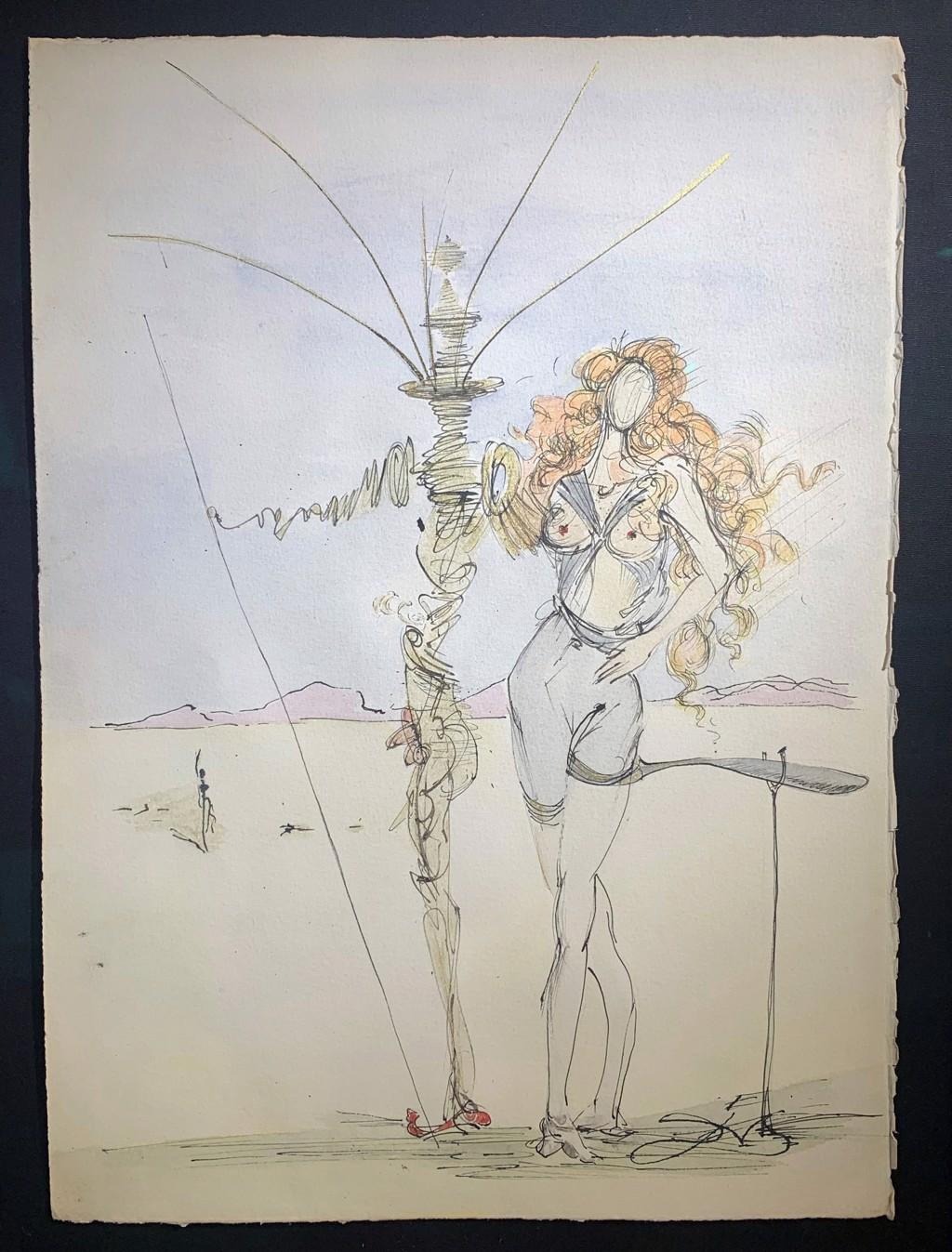 La Femme aux Cheveux d'or et son Garde by Salvador Dali (1904 - 1989)