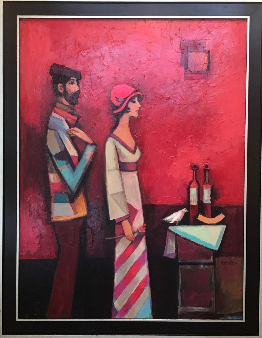 Couple, Red Studio by David Adickes