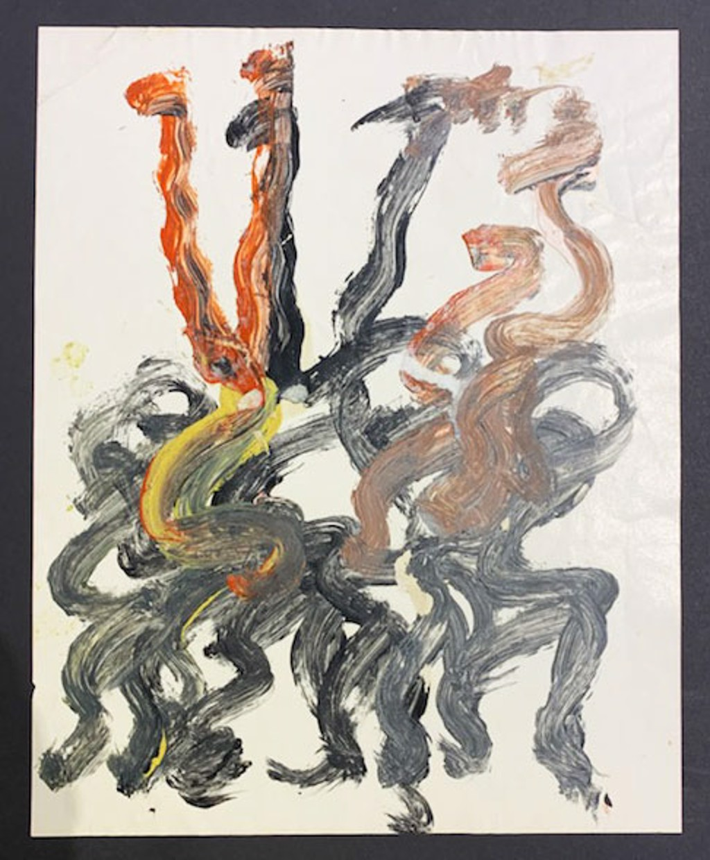 Drawing from the 1990's #227 by Purvis Young (1943 - 2010)