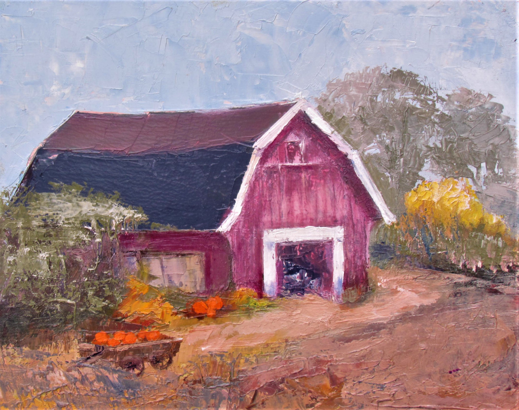 Harvest Time Barn by Patti Mollema