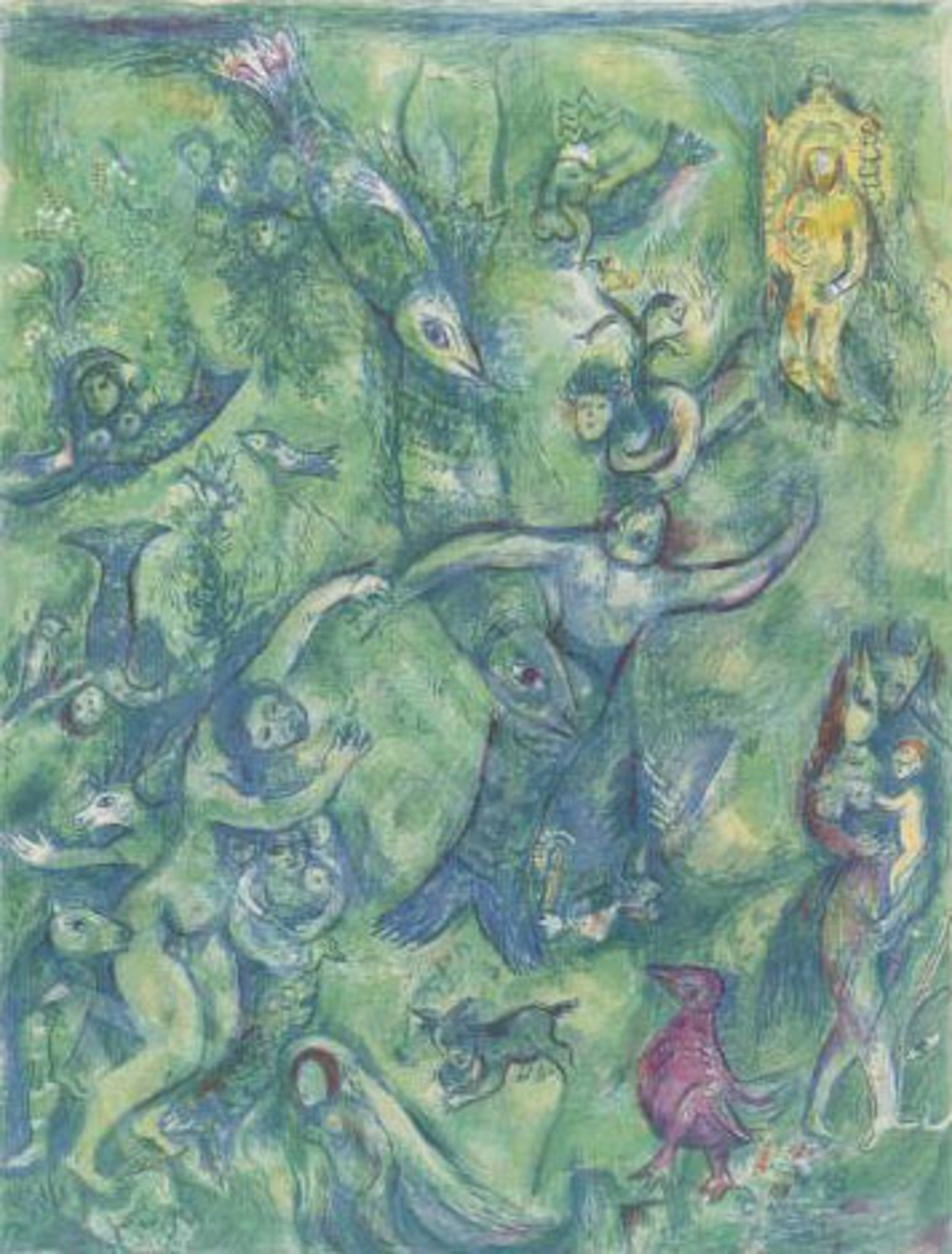 Arabian Nights Book Lithograph Plate 9 by Marc Chagall (1887 - 1985)
