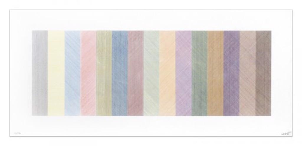 Horizontal Composite, Four Colors by Sol LeWitt