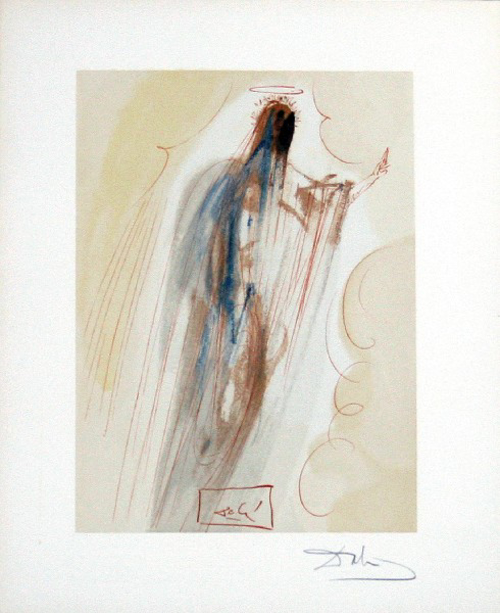Paradise Canto 29: Th4e Creation of Angels from The Divine Comedy by Salvador Dali (1904 - 1989)