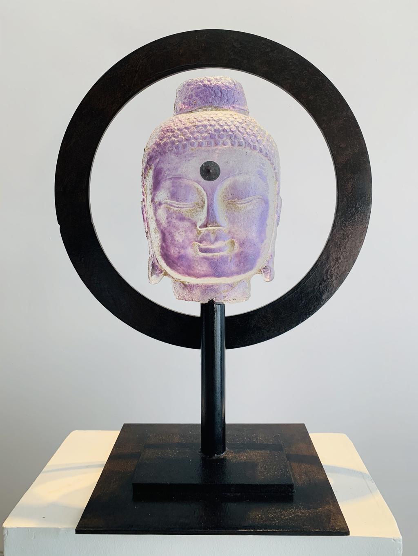 Halo Buddha - Lilac by Marlene Rose (b. 1967)