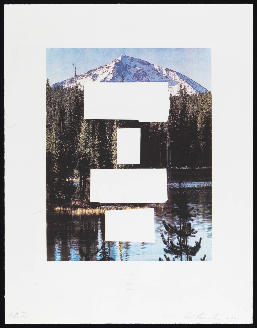 Country City Scapes: Your A Dead Man by Ed Ruscha