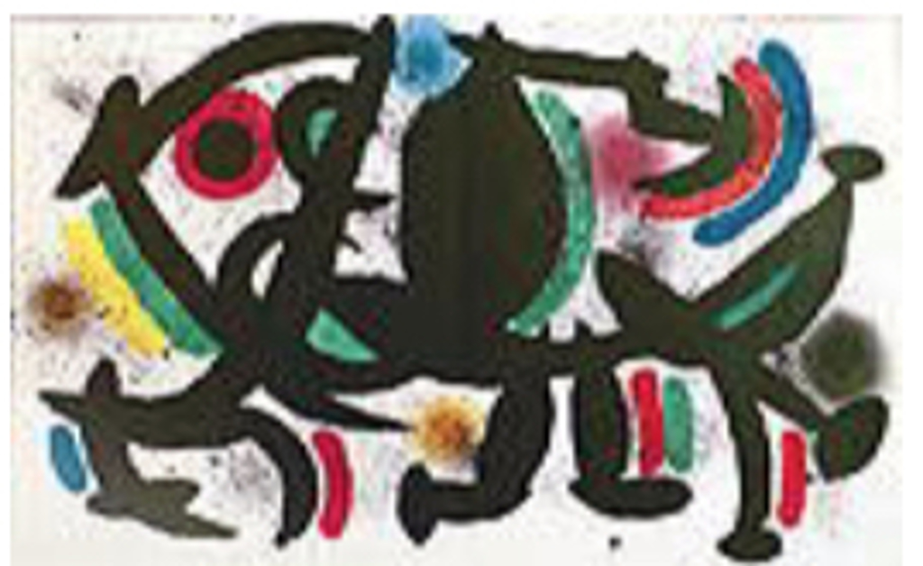 Miro Lithographs Volume I Plate VII by Joan Miro (1893 - 1983)