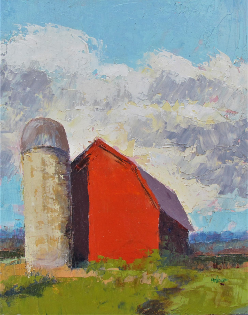 Proud Red Barn by Patti Mollema