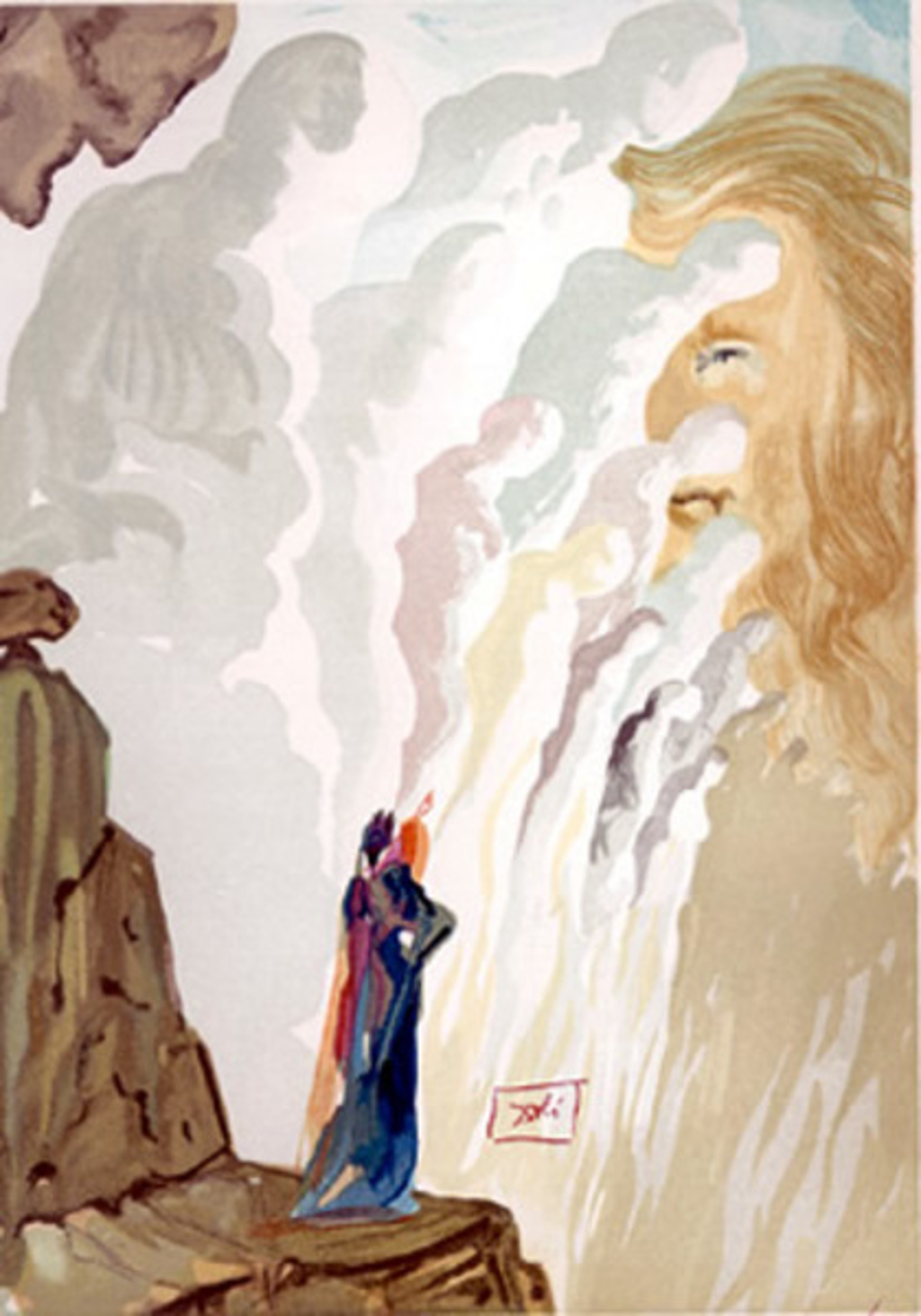 Purgatory Canto 12: The Beauty of the Sculptures from The Divine Comedy by Salvador Dali (1904 - 1989)