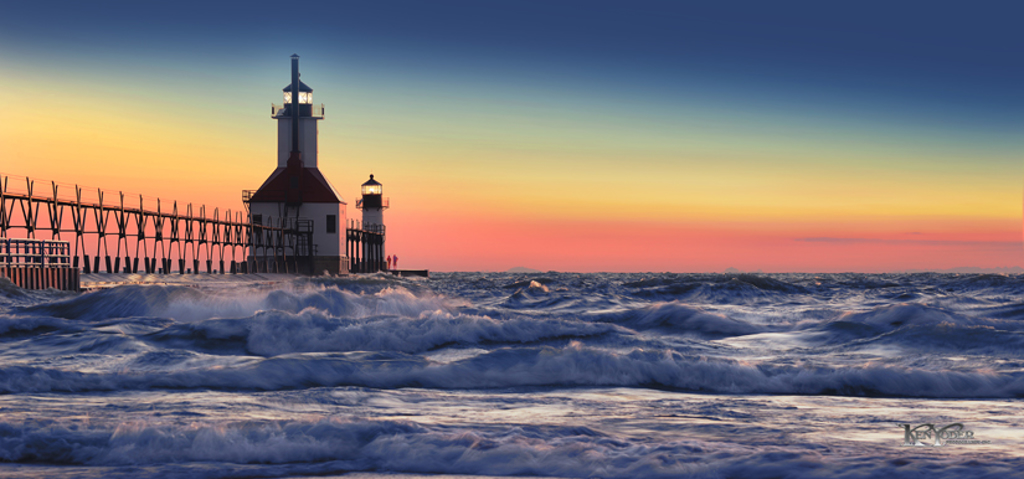 Lighthouse at Dusk St. Joe by Ken Yoder