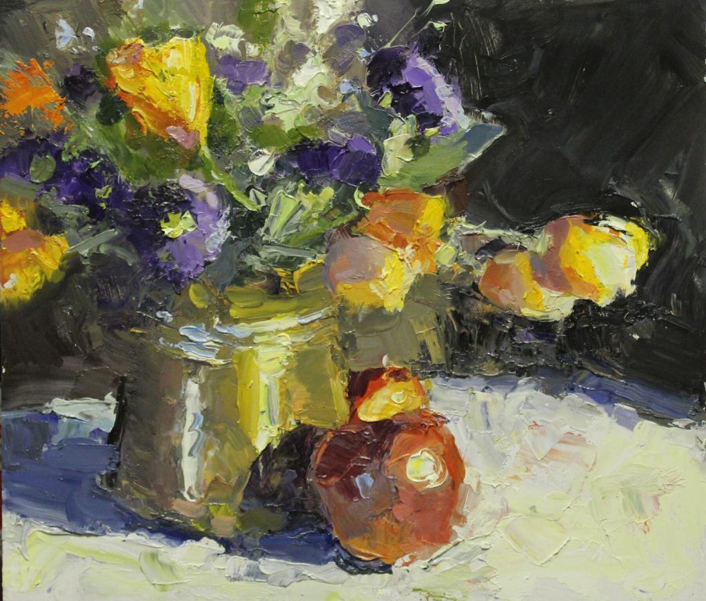 Apple And Garden Flowers by Brent Jensen