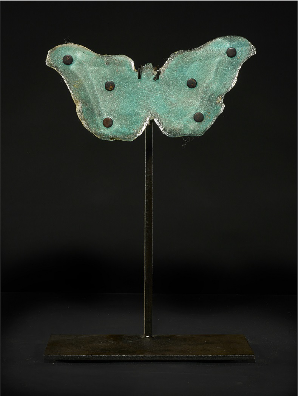 Copper Blue Butterfly with Dots by Marlene Rose