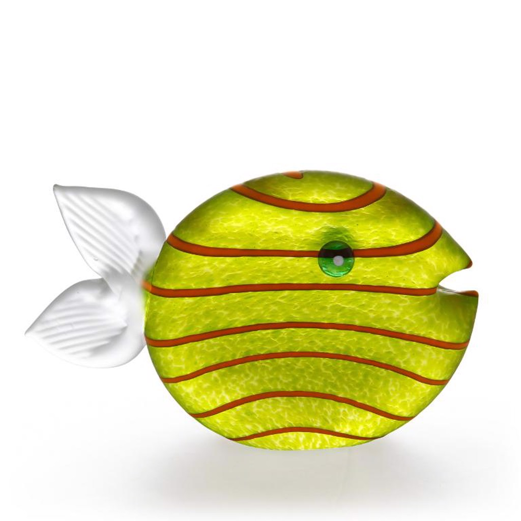 ST/ SNIPPY BIG, fish, paperweight, citron by Borowski