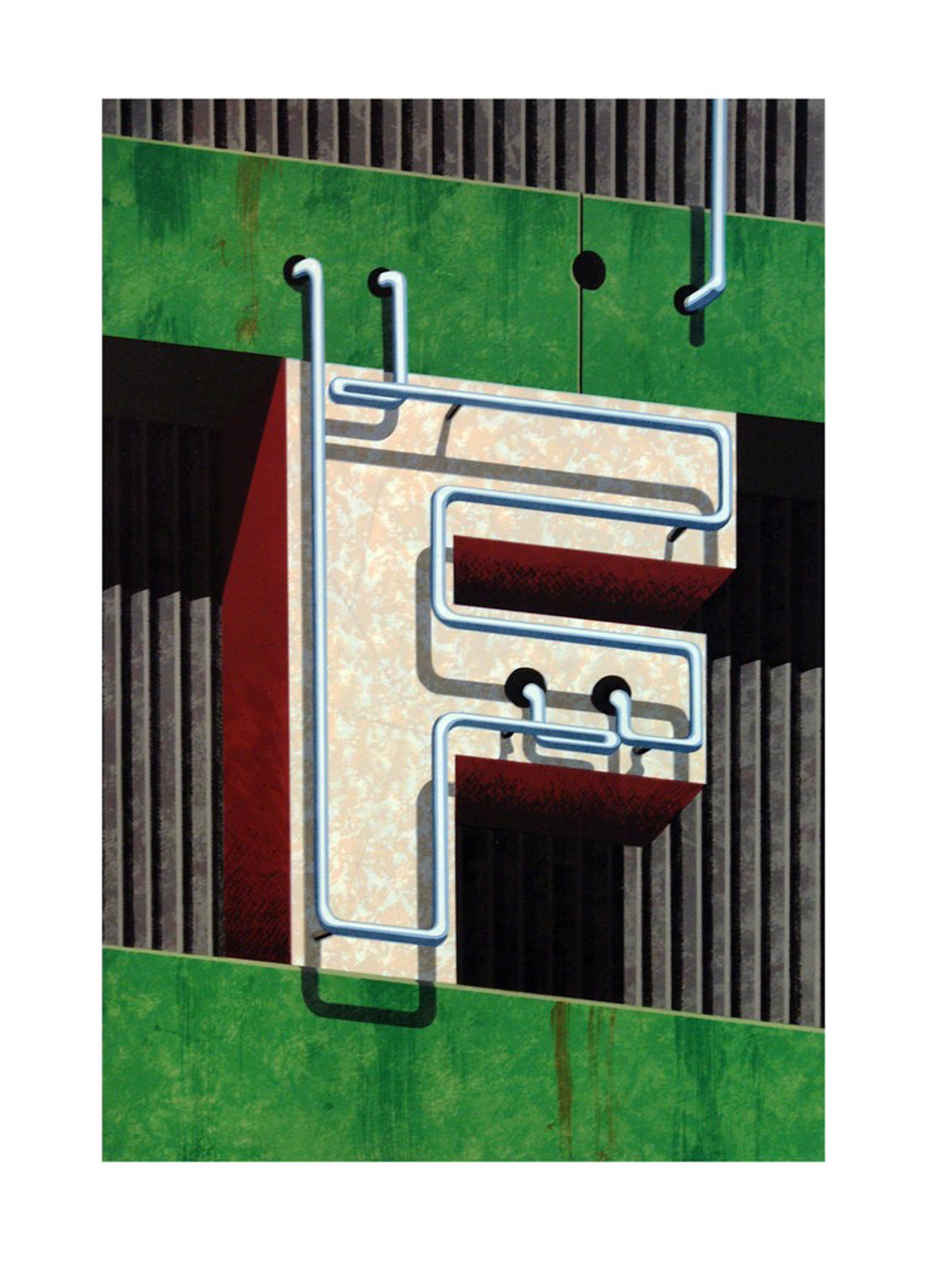 An American Alphabet: F by Robert Cottingham