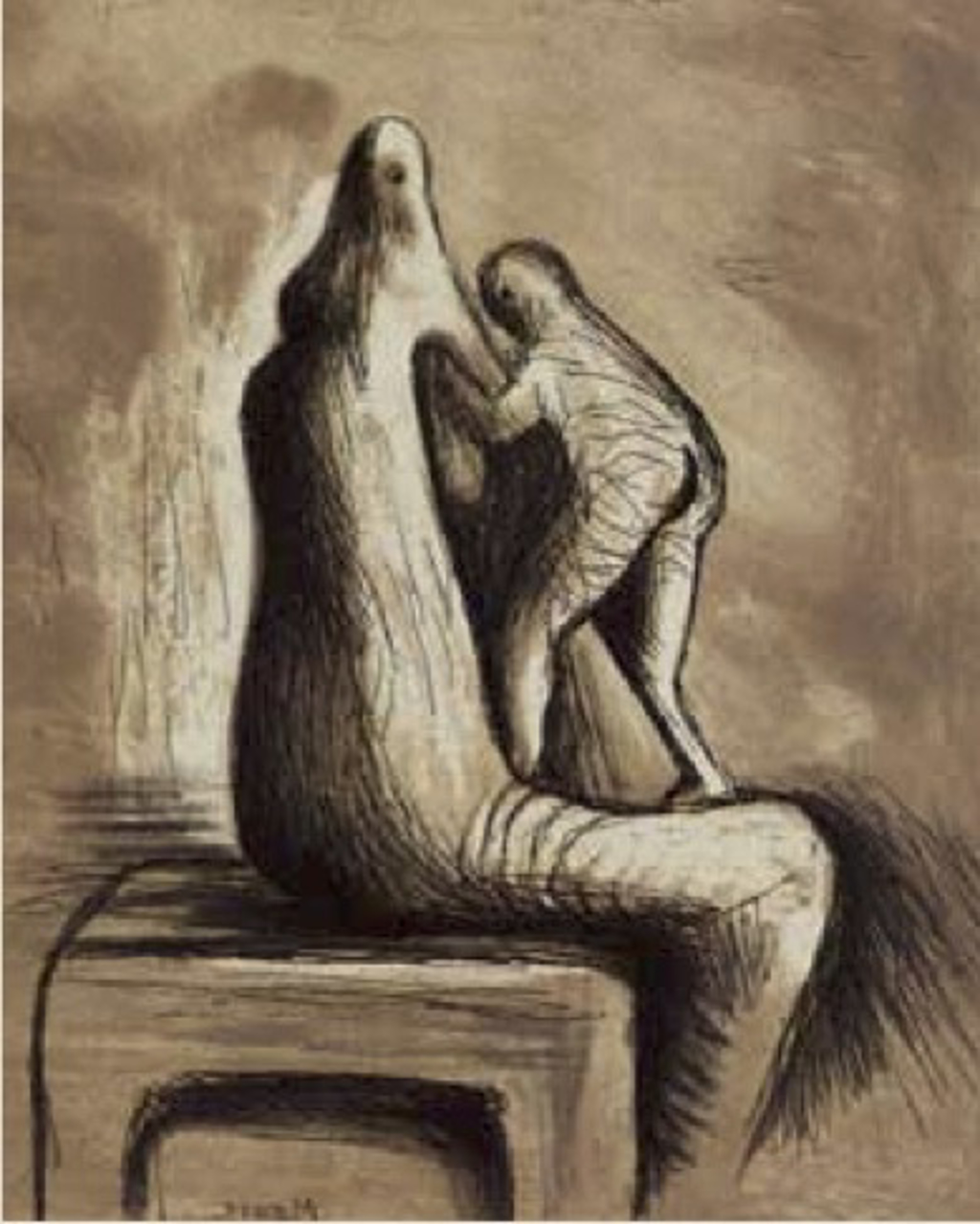 Mother and Child XIV by Henry Moore