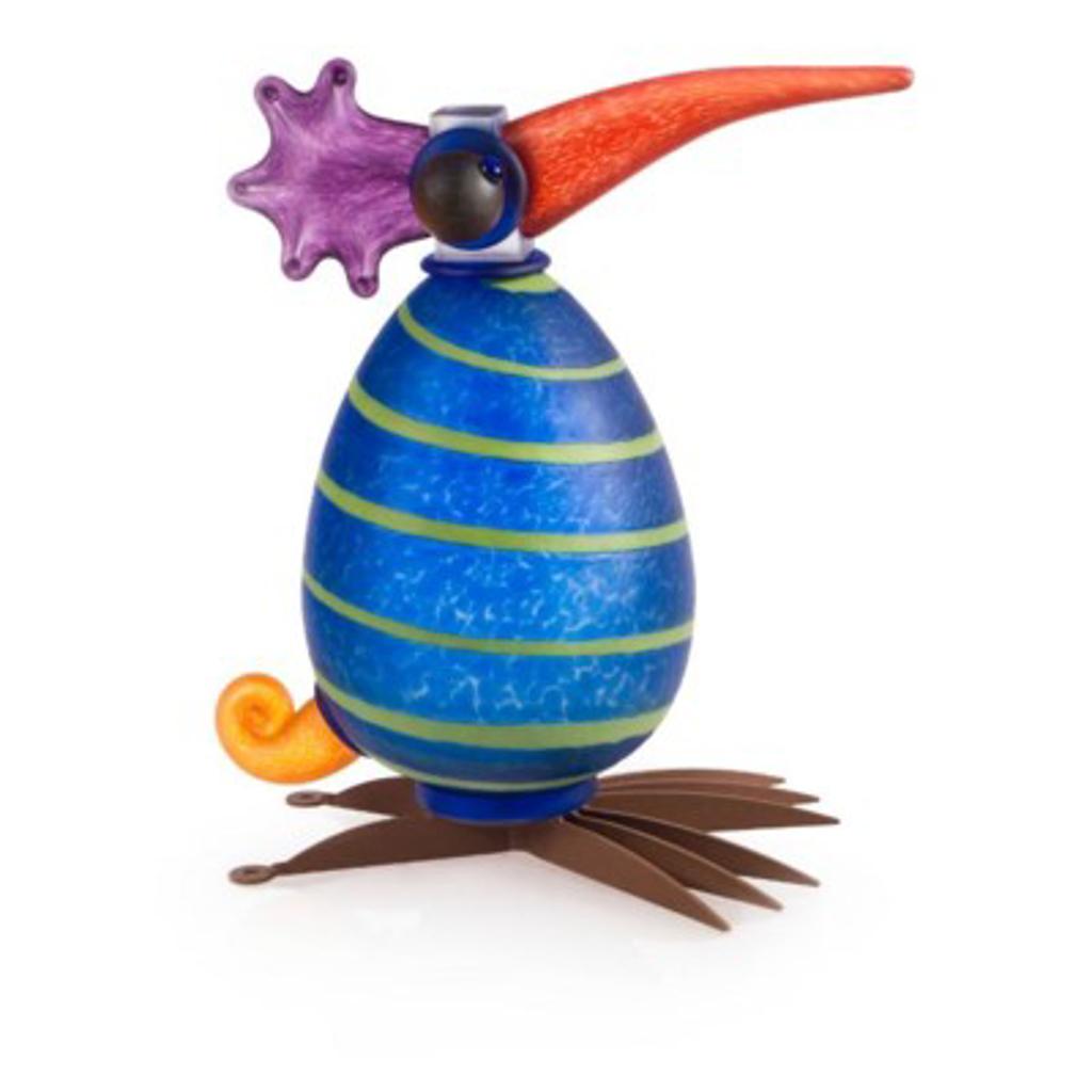 GONZO, bird, blue w/strip 24-30-04 by Borowski