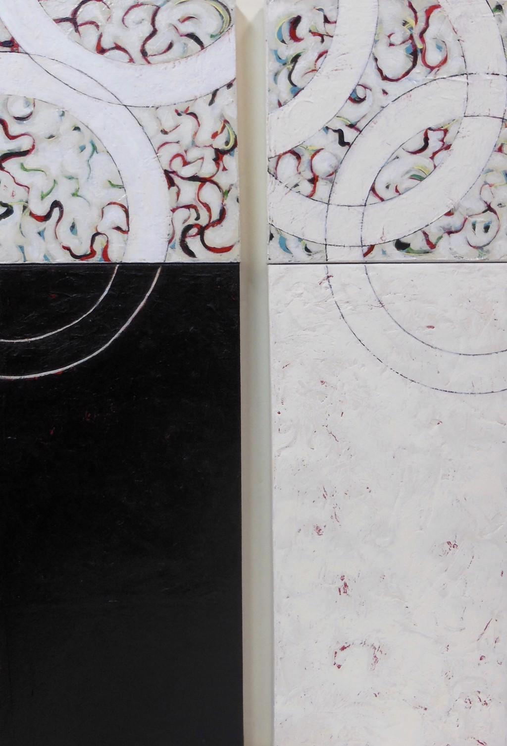 Black Dawn, White Dawn (Diptych) by Helen Bellaver